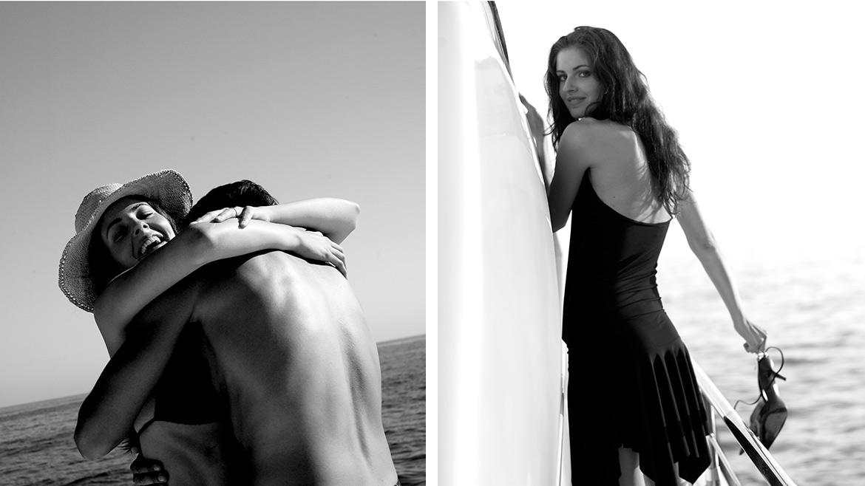 Bianco e nero, abbraccio -Yachting Lifestyle - Mattia Morgavi - Fotografo a Genova