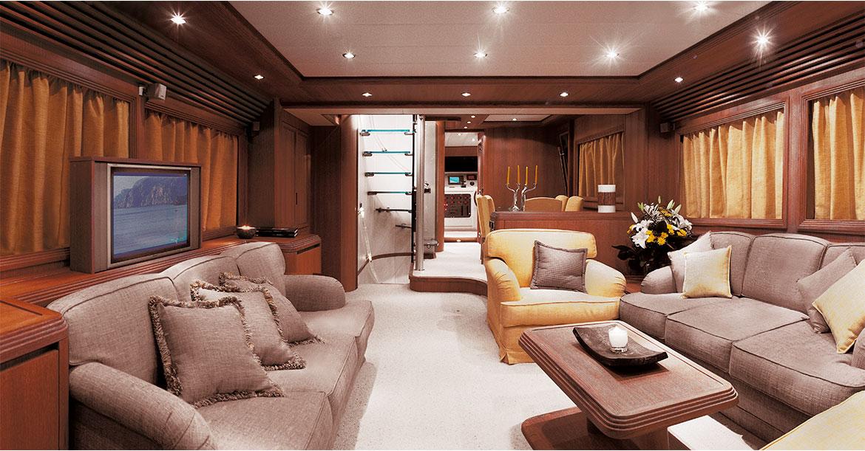 Alalunga Yacht - interni di lusso, sala