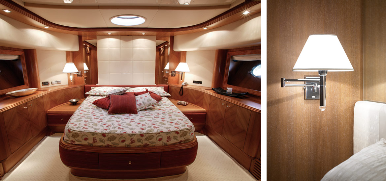 Alalunga Yacht - cabina interni di lusso