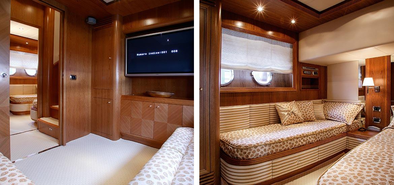 Interni Yacht cabine di lusso con televisore