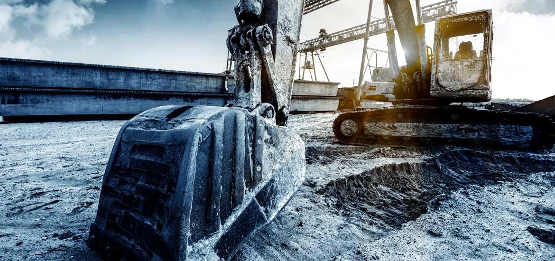 Fotografie industriali ruspa che scava
