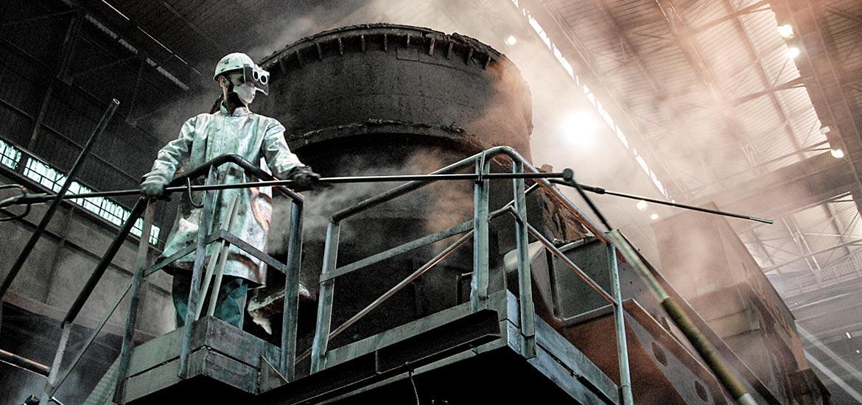 Fotografie industriali acciaierie Lucchini